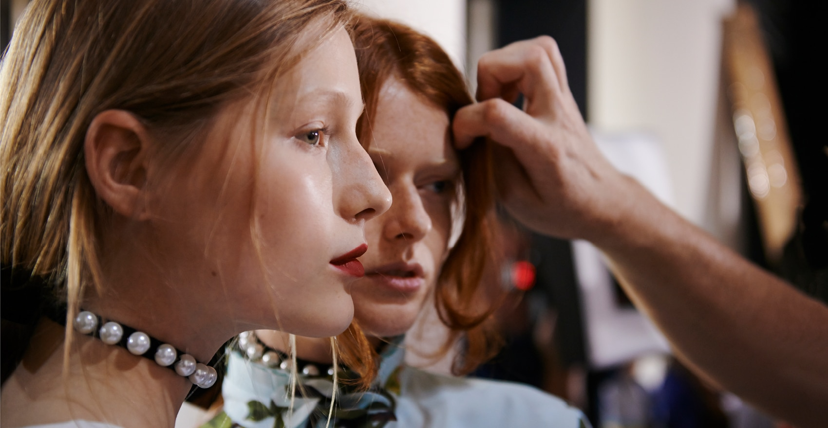 Fashion Week Andrew GN Spring-Summer 2018 backstage René Furterer Paris