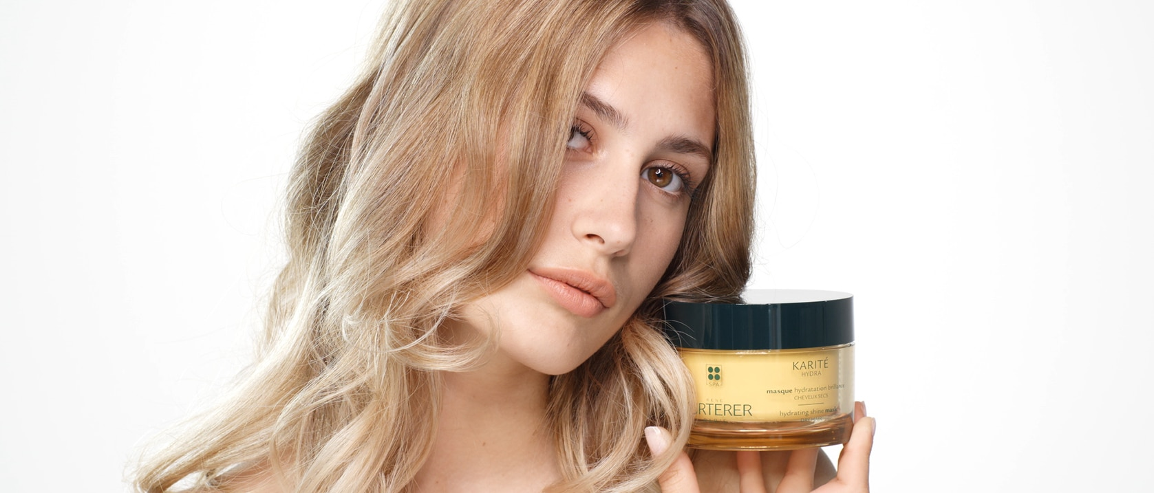 KARITÉ HYDRA masque Hydratation brillance pot video application  | René Furterer