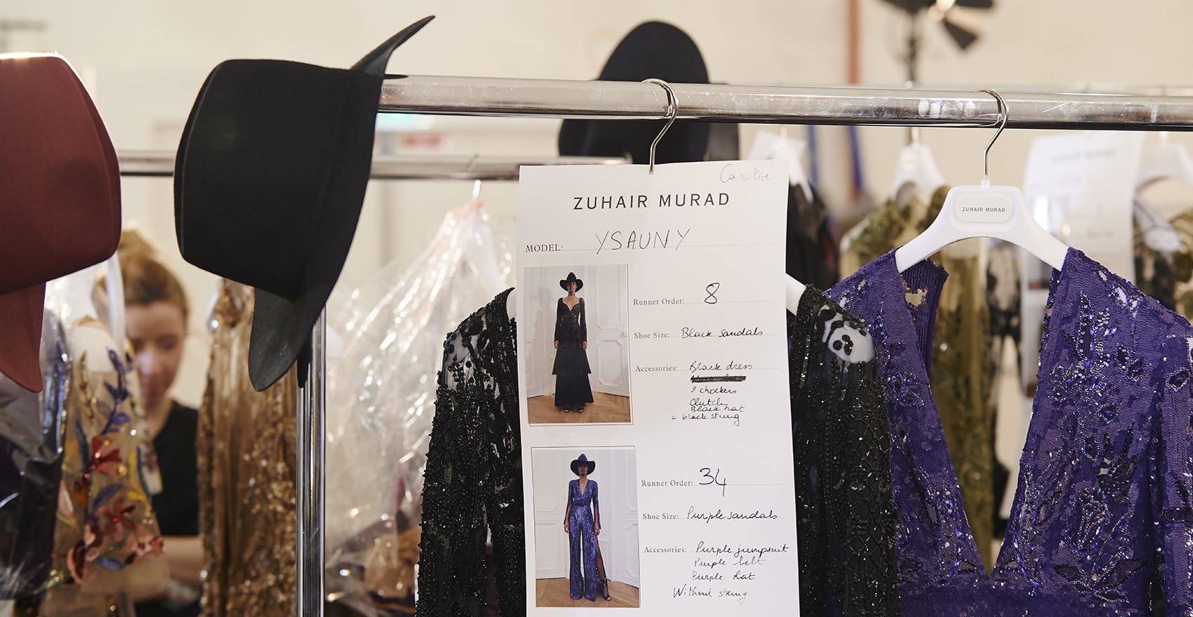 Backstage Zuhair Murad collection haute couture Automne-Hiver 2016 Fashion Week Paris coiffure looks | René Furterer