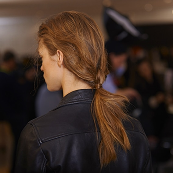 Backstage Cédric Charlier Spring-Summer 2016 collection finished look hair trends maritime mini | René Furterer