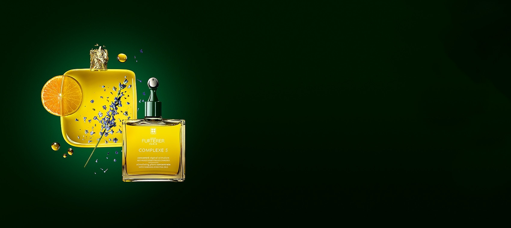 COMPLEXE 5 - Concentré végétal stimulant aux huiles essentielles chaudes - Tout type de cheveux | Rene Furterer