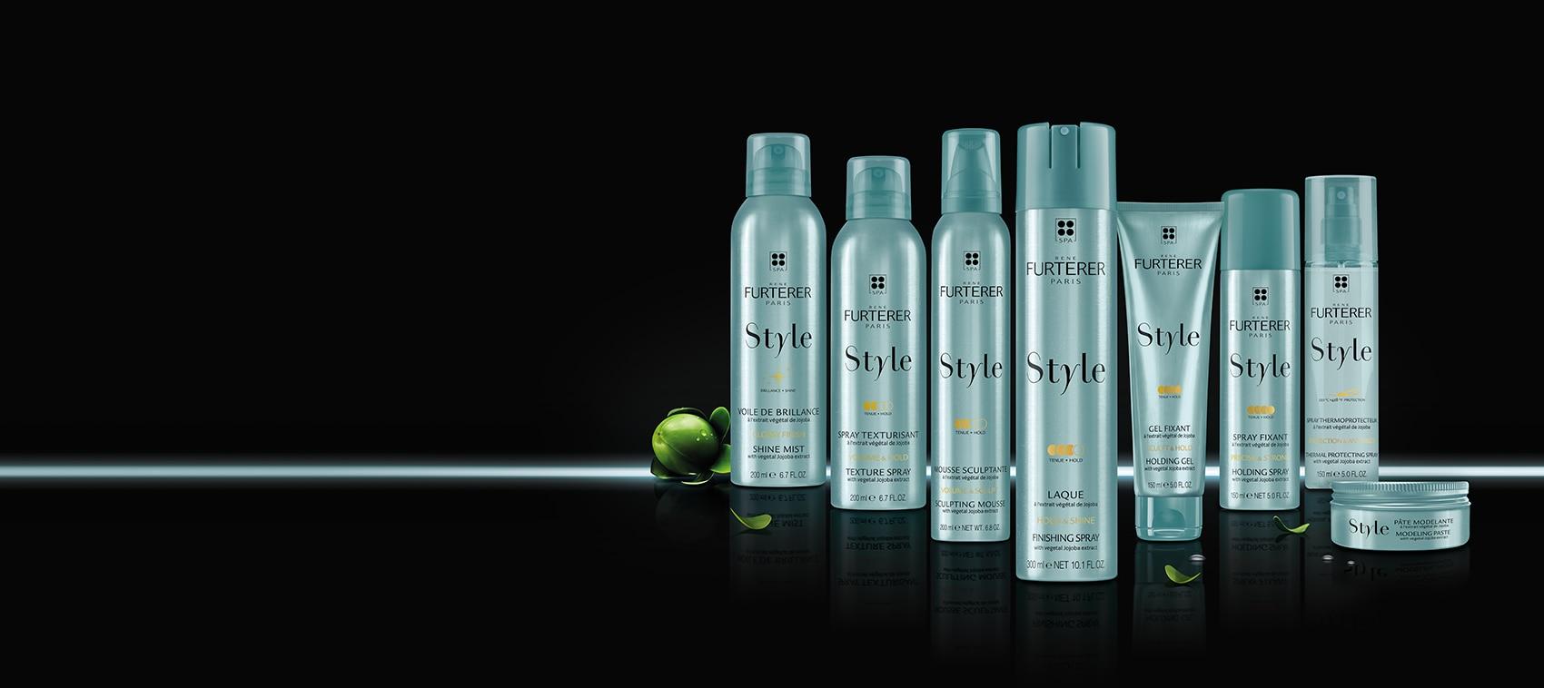 STYLE, la ligne de coiffants à l'extrait végétal de Jojoba, sans silicone - Tous types de cheveux | René Furterer