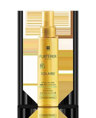 SOLAIRE Huile d'été protectrice pour cheveux exposés au soleil, à la mer et à la piscine | René Furterer