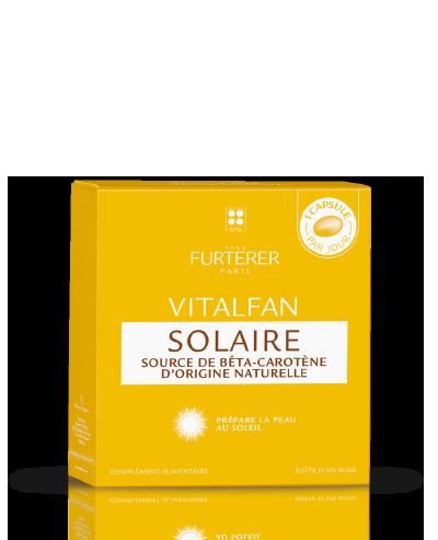VITALFAN Solaire - Complément alimentaire source de béta-carotène d'origine naturelle | René Furterer