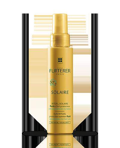 SOLAIRE Fluide d'été protecteur pour cheveux exposés au soleil, à la mer et à la piscine | René Furterer
